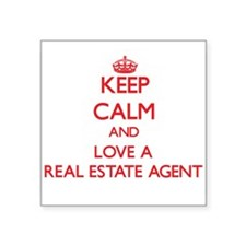 Keep Calm and Love a Real Estate Agent Sticker