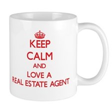 Keep Calm and Love a Real Estate Agent Mugs