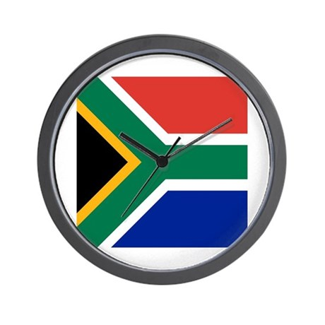 Flag of south africa wall clock by admin cp49789583 for Modern wall clocks south africa