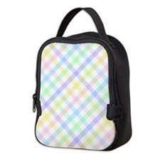 Pastel Plaid Neoprene Lunch Bag
