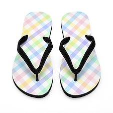 Pastel Plaid Flip Flops