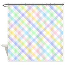 Pastel Plaid Shower Curtain