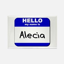 hello my name is alecia Rectangle Magnet