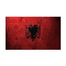 Albanian Flag (Grunge) Rectangle Car Magnet
