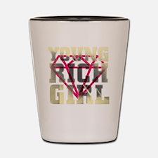 Young rich girl Shot Glass
