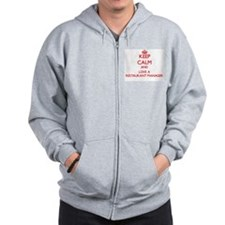 Keep Calm and Love a Restaurant Manager Zip Hoodie
