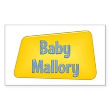 Baby Mallory Rectangle Decal