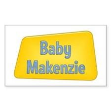 Baby Makenzie Rectangle Decal