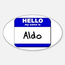 hello my name is aldo Oval Decal