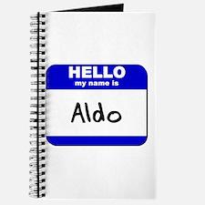 hello my name is aldo Journal