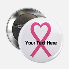 "Personalized Pink Ribbon He 2.25"" Button (10 pack)"