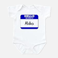 hello my name is aldo  Infant Bodysuit