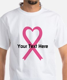 Personalized Pink Ribbon Heart Shirt