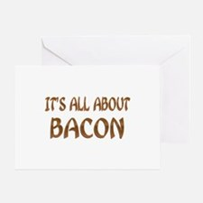All About Bacon Greeting Card
