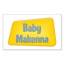 Baby Makenna Rectangle Decal