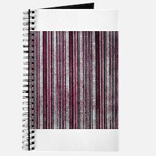 Red striped Newsprint texture Journal