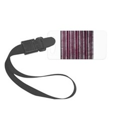 Red striped Newsprint texture Luggage Tag