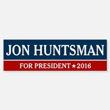 Jon Huntsman For President 2016 Bumper Bumper Bumper Sticker
