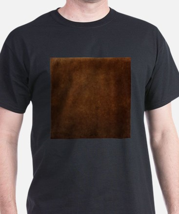 Brown suede texture T-Shirt