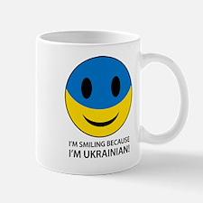 Happy to be Ukrainian Smiley Face Mug