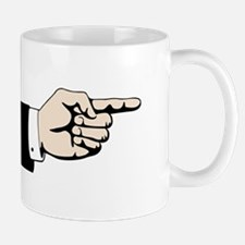Poointing Male Hand Mugs