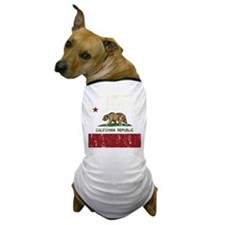 California Republic Distressed Flag Dog T-Shirt