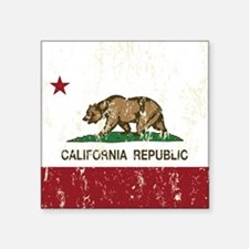 California Republic Distressed Flag Sticker