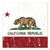 California republic Square Car Magnets