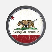California Republic Distressed Flag Wall Clock
