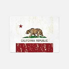 California Republic Distressed Flag 5'x7'Area Rug