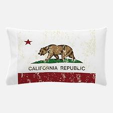 California Republic Distressed Flag Pillow Case