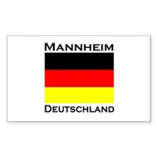 Mannheim, Germany Rectangle Decal