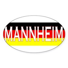 Mannheim, Germany Oval Decal