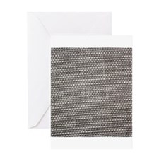 Brown woven tablecloth texture Greeting Cards