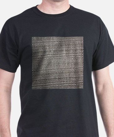 Brown woven tablecloth texture T-Shirt