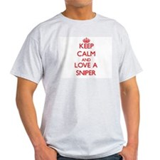 Keep Calm and Love a Sniper T-Shirt