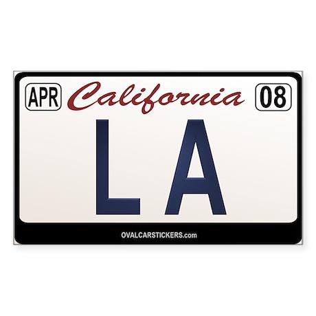 California License Plate Sticker - LA