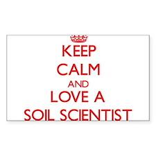 Keep Calm and Love a Soil Scientist Decal