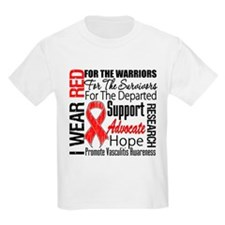 Vasculitis I Wear Red Ribbon Tribute T-Shirt