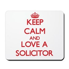 Keep Calm and Love a Solicitor Mousepad