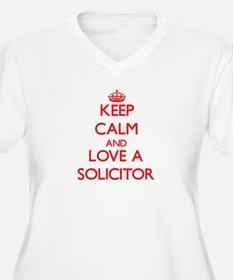 Keep Calm and Love a Solicitor Plus Size T-Shirt