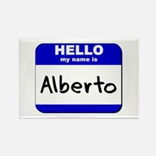 hello my name is alberto Rectangle Magnet