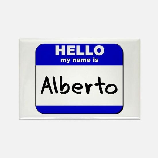 hello my name is alberto Rectangle Magnet