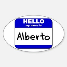 hello my name is alberto Oval Decal