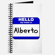hello my name is alberto Journal
