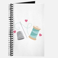 Heart Sewing supplies Journal