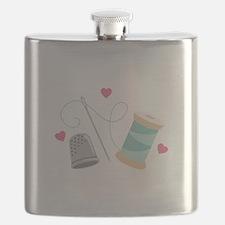 Heart Sewing supplies Flask