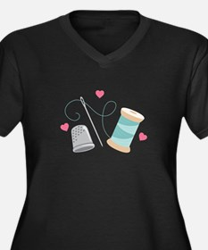 Heart Sewing supplies Plus Size T-Shirt