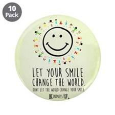 """Kindness Rules Button (10 3.5"""" Button (10 Pack)"""