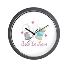 Sew In Love Wall Clock